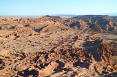 Amazing Rock Formations at Valle de la Luna or Valley of the Moon, Atacama Desert in Northern Chile