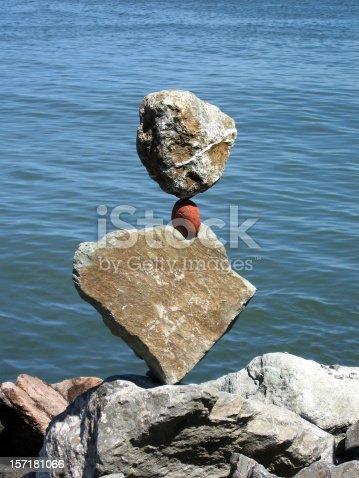 istock Amazing Rocks Balanced in Sausalito - Inukshuk 157181066