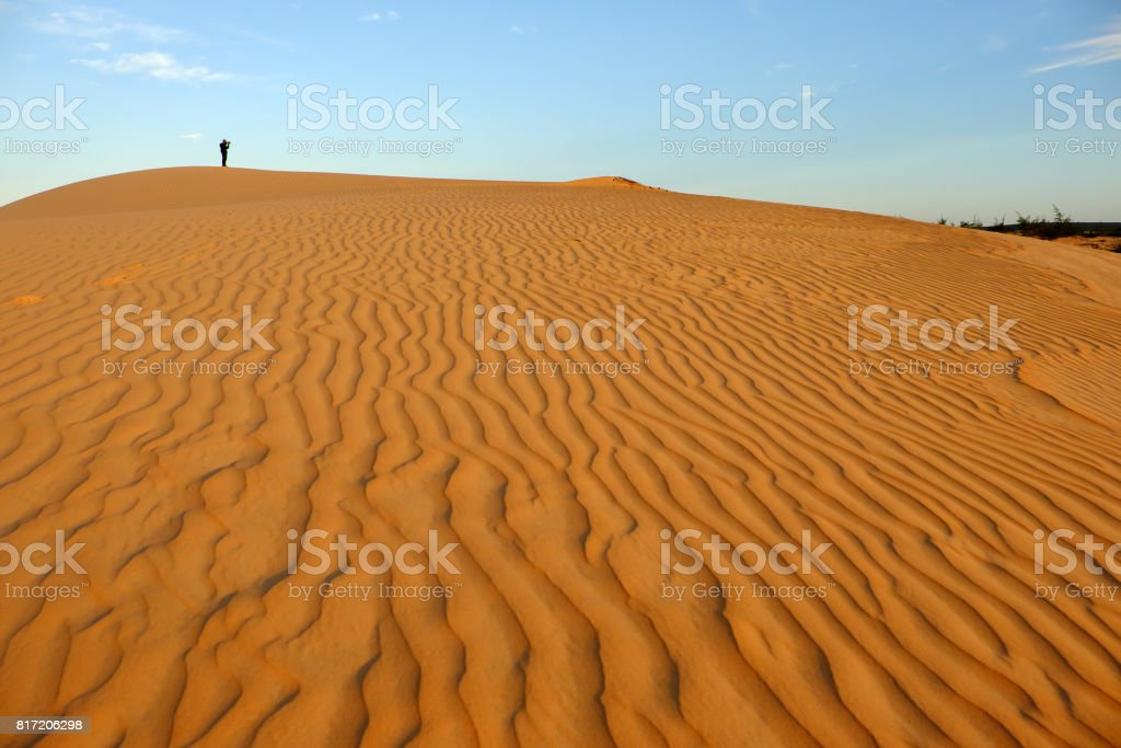 Amazing sand hill to adventure travel for summer trip stock photo