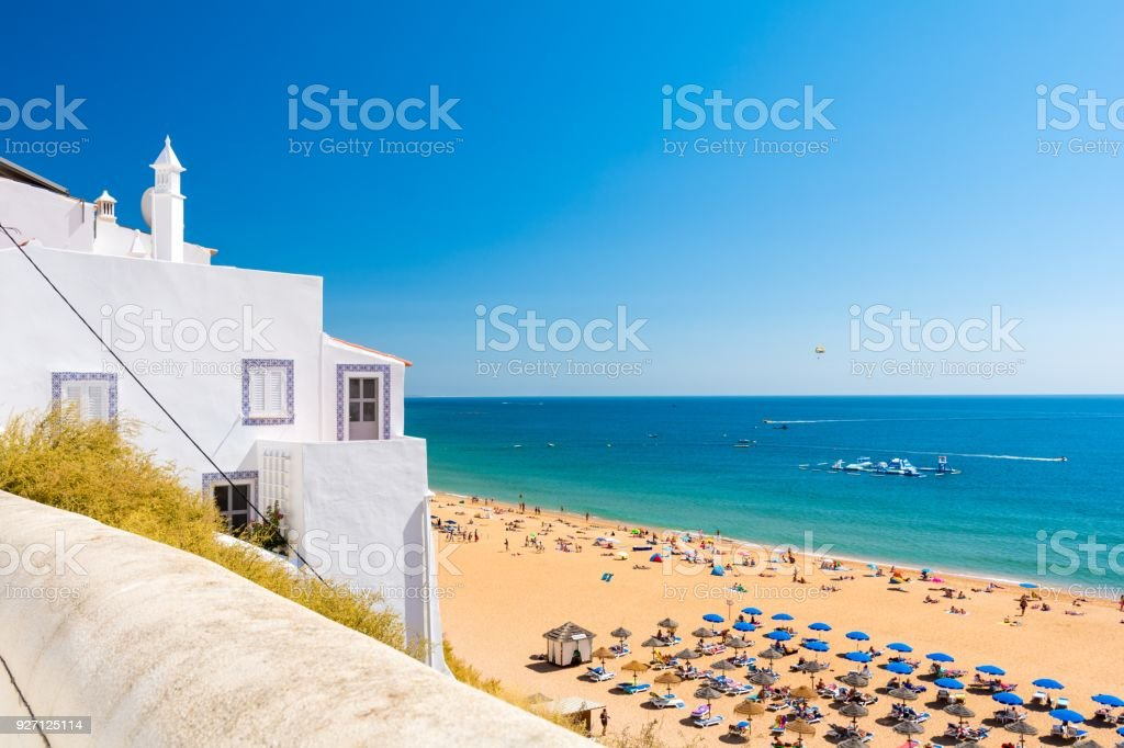 Magnifique plage de sable à Albufeira, Algarve, Portugal - Photo
