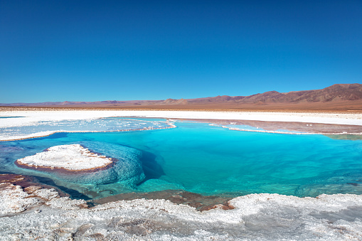Amazing scenario in the Atacama Desert in Chile