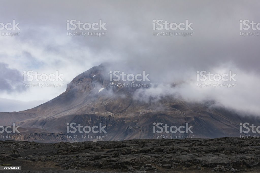 Amazing Scenic mountain landscape shot on iceland - Royalty-free Agricultural Field Stock Photo