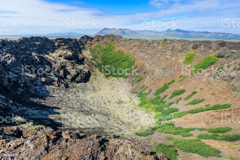 Amazing Scenic volcano landscape shot on iceland - Royalty-free Agricultural Field Stock Photo