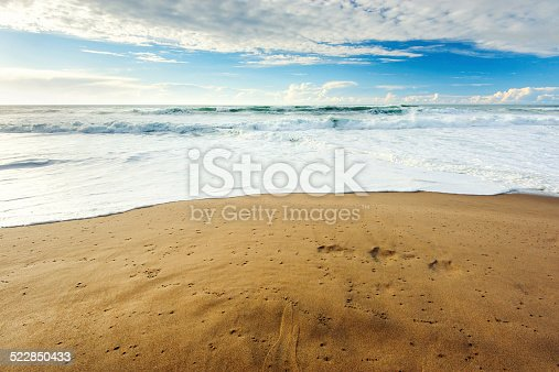 Beauty beach Adraga with sand in Portugal