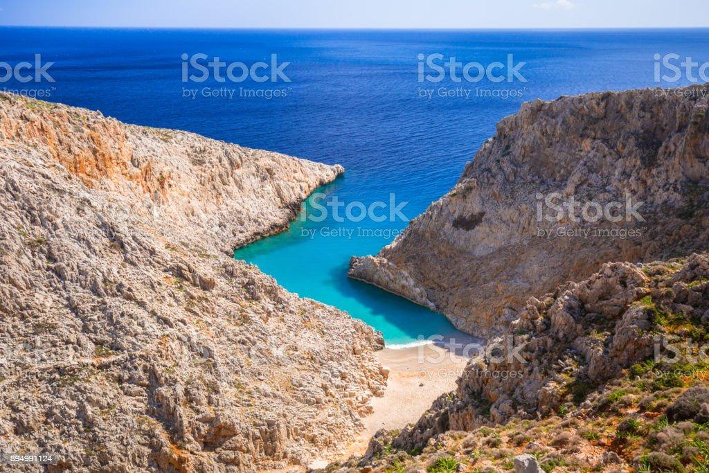 Amazing Seitan limania beach on Crete – zdjęcie
