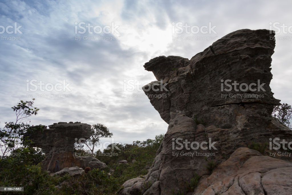 Amazing Shape of Rock at Pa Hin Ngam National Park , Thailand stock photo