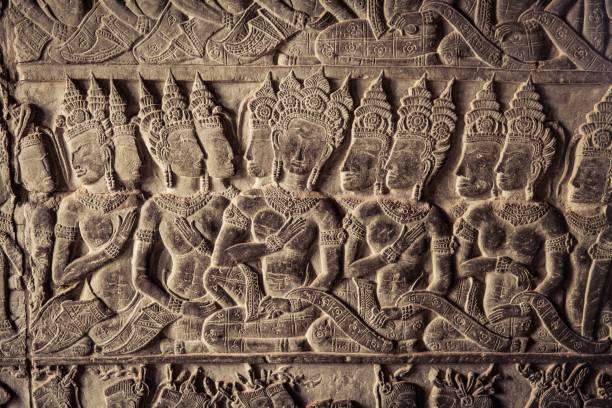 Amazing Stone Carving stock photo