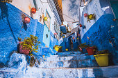 istock Amazing street view of blue city Chefchaouen. Location: Chefchaouen, Morocco, Africa 1011876528