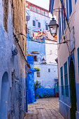 istock Amazing street view of blue city Chefchaouen. Location: Chefchaouen, Morocco 1019399556