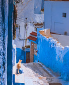 istock Amazing street view of blue city Chefchaouen. Location: Chefchaouen, Morocco, Africa 1125122518