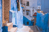 istock Amazing street view of blue city Chefchaouen. Location: Chefchaouen, Morocco, Africa 1130690027