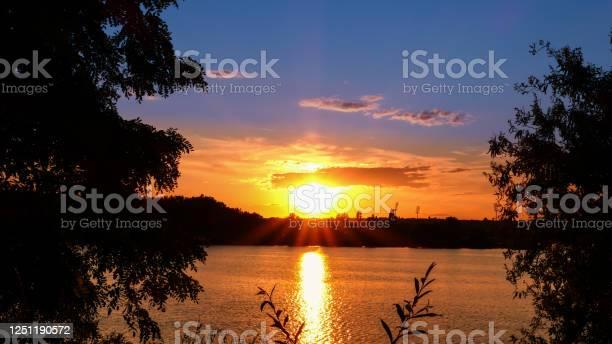 Photo of Amazing sunrise over a lake.