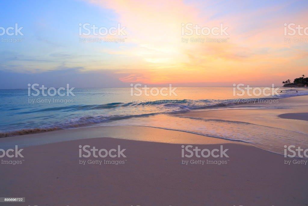 Amazing sunset. Beautiful natural background. stock photo
