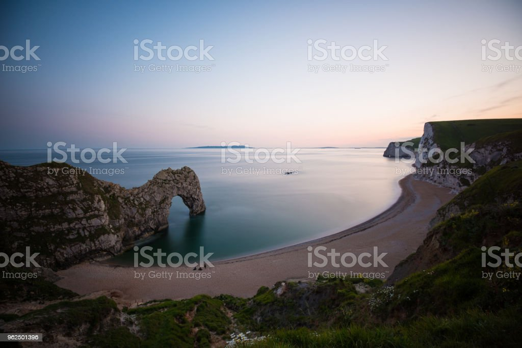 Amazing sunset by Durdle Door in England (XXXLarge) stock photo