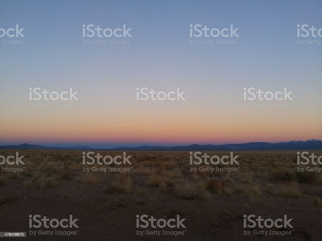 Amazing sunset in Colorado stock photo