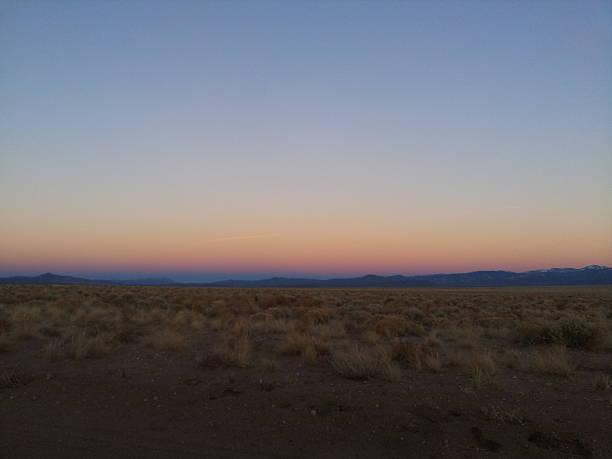 Amazing sunset in Colorado stock photo