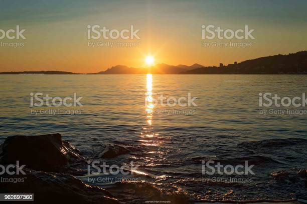 Amazing Sunset In French Riviera Seascape Stock Photo - Download Image Now