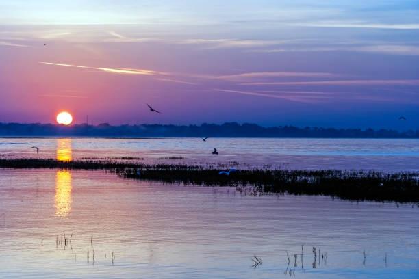 Amazing Sunset over Lake Toho in Kissimmee, Florida