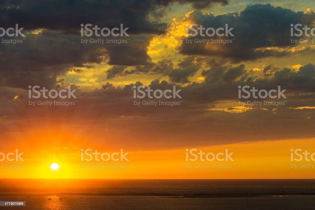 amazing sunset royalty-free stock photo