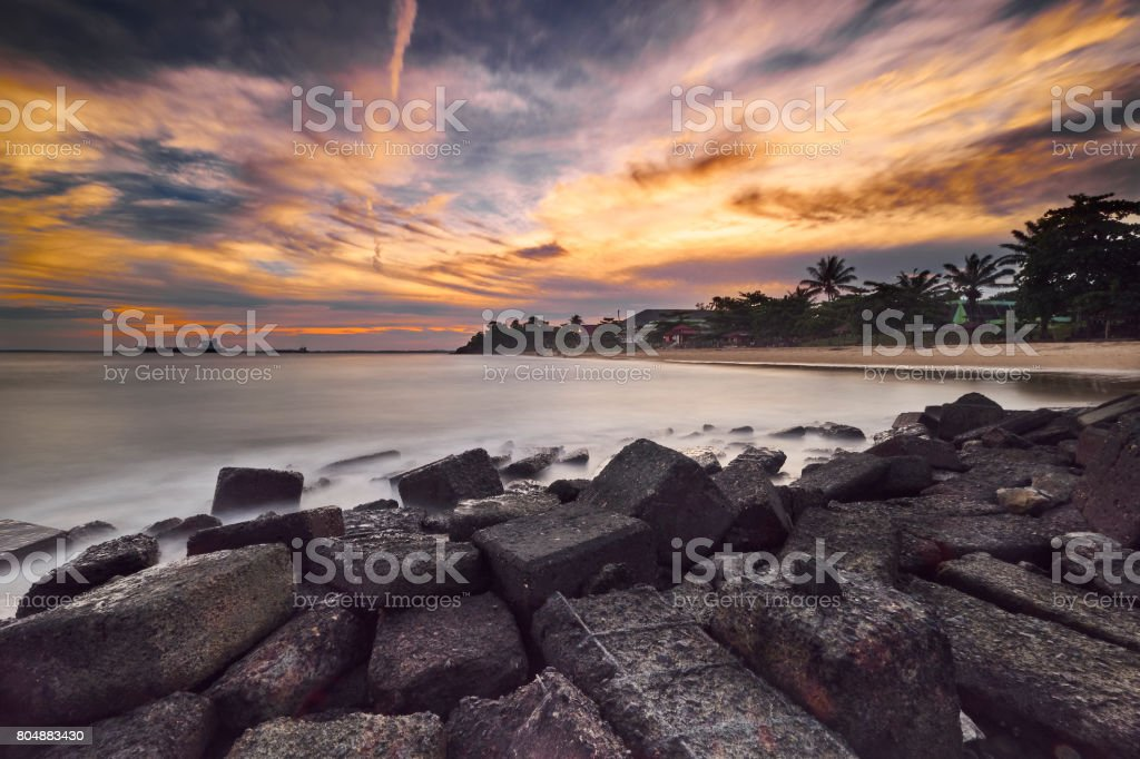 Amazing Sunset... stock photo