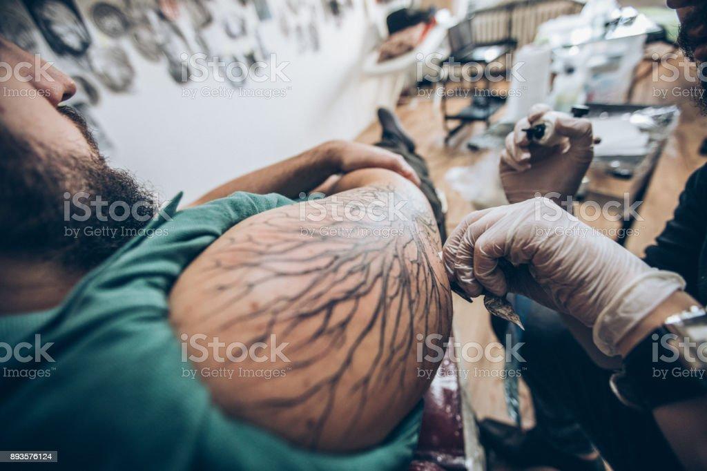 Amazing tattoo stock photo
