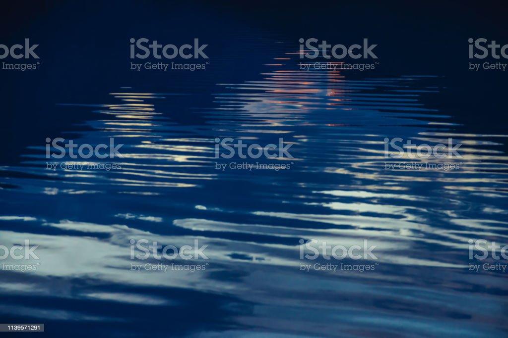 Amazing textured background of calm dark blue clean water surface....