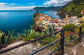 istock Amazing Vernazza village view from the hills, Cinque Terre, Italy 1266558448