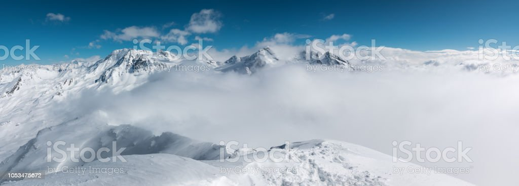 Amazing View From 3200 m stock photo