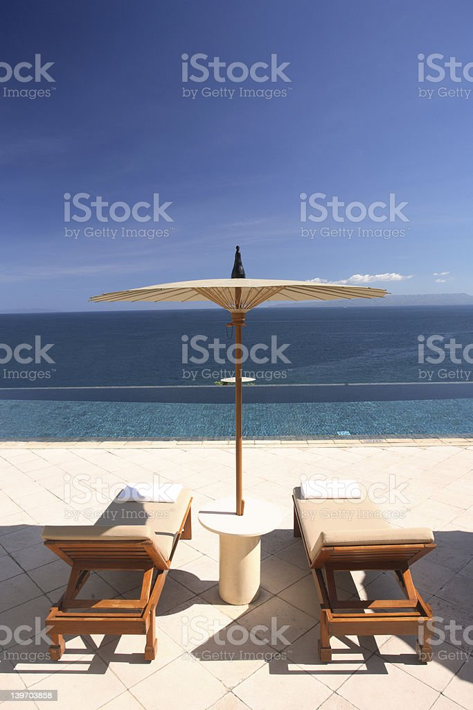 Amazing View from the Swimming Pool royalty-free stock photo