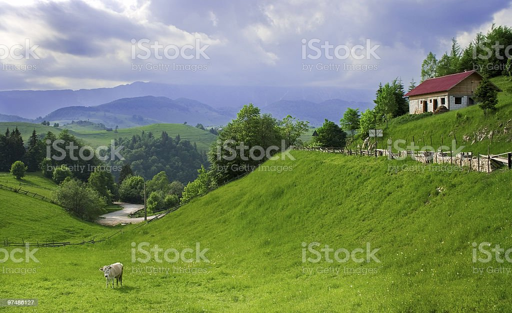 Amazing view in a romanian village royalty-free stock photo