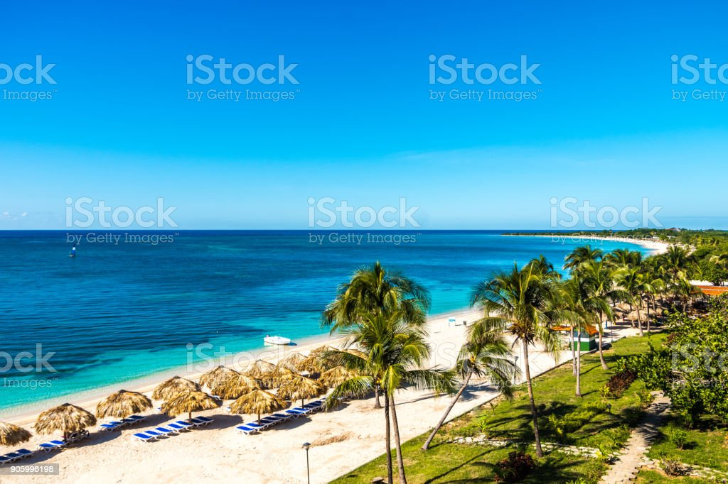 Amazing view of a paradisiac beach in Playa Ancon stock photo