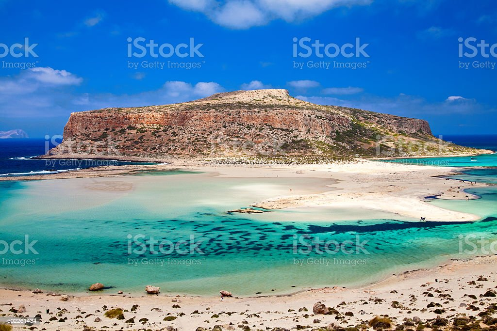 amazing view of Balos lagoon stock photo