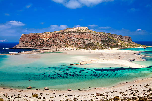 amazing view of Balos lagoon stock photo