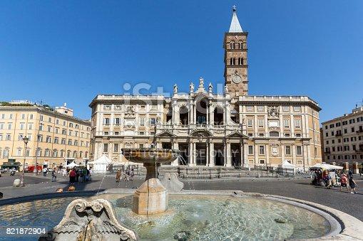 istock Amazing view of Basilica Papale di Santa Maria Maggiore in Rome, Italy 821872904