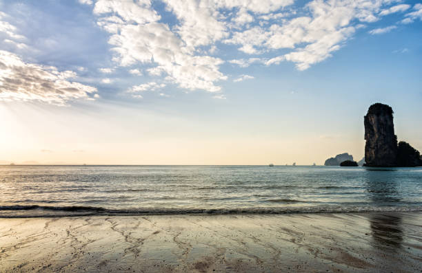 amazing view of beautiful beach. location: krabi, thailand, andaman sea. artistic picture. beauty world. - swashbuckler stock photos and pictures