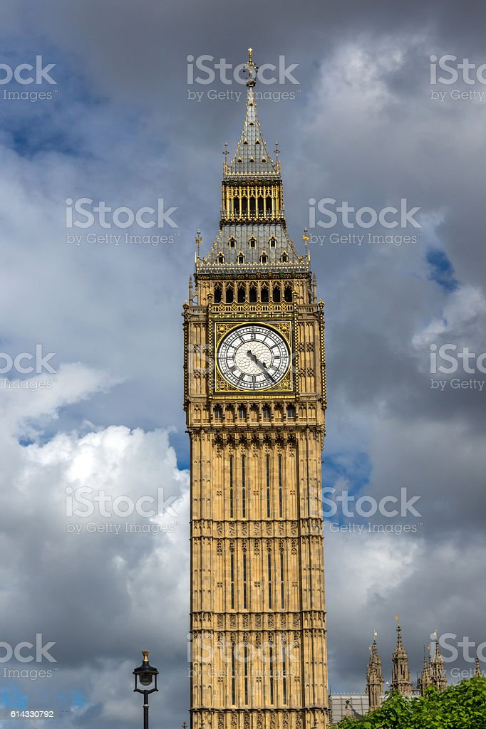 Amazing view of Big Ben, London, England stock photo