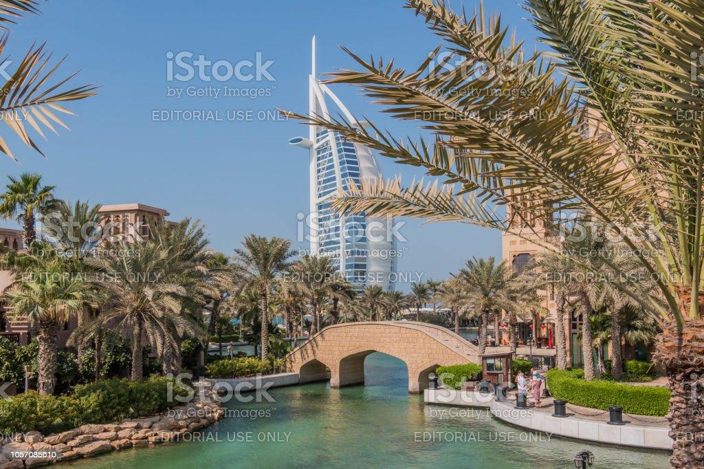 Erstaunlich Blick Auf Burj Al Arab Siebensternehotel Ein Blick Vom