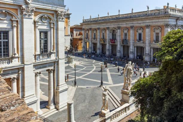 Şaşırtıcı görünümü Capitoline müzeleri, Roma, İtalya stok fotoğrafı