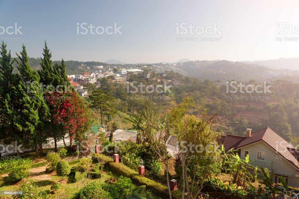 Amazing view of Dalat (Da Lat) in Vietnam royalty-free stock photo