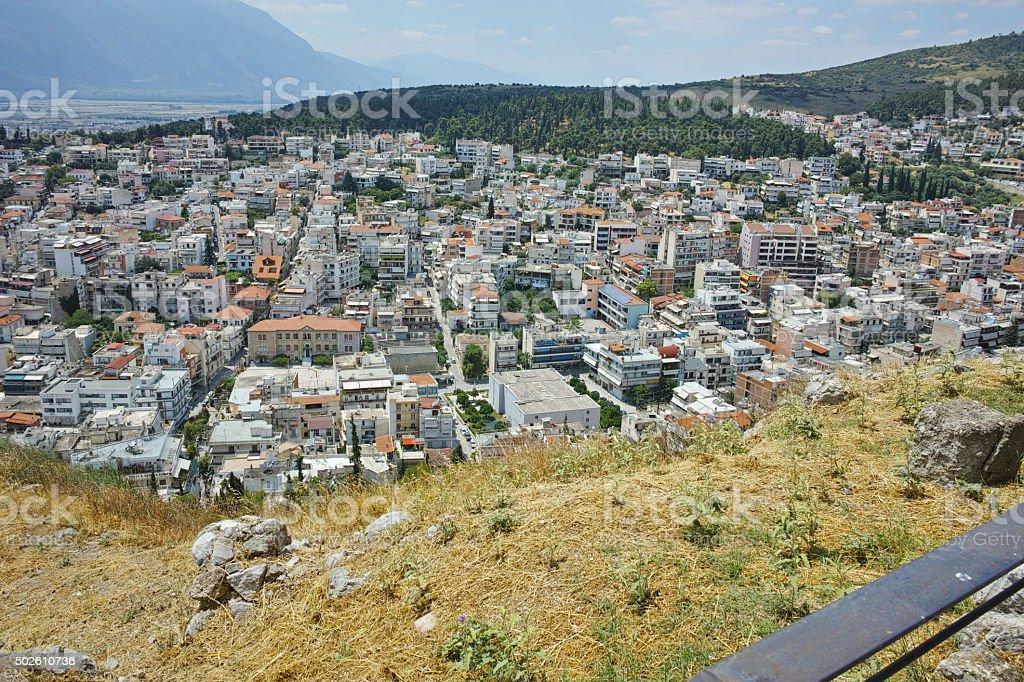 Amazing view of Lamia City stock photo