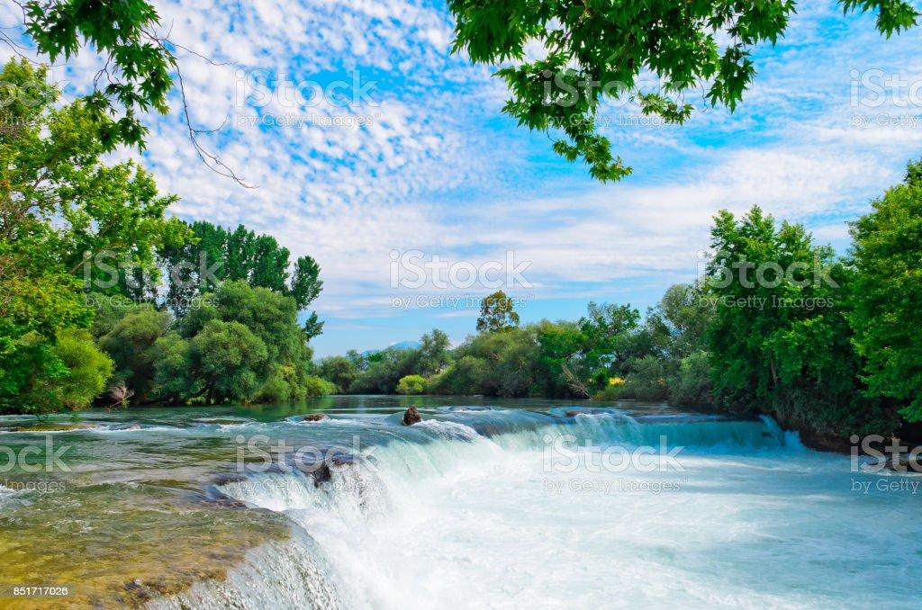 Amazing view of Manavgat waterfall in Antalya, Turkey stock photo