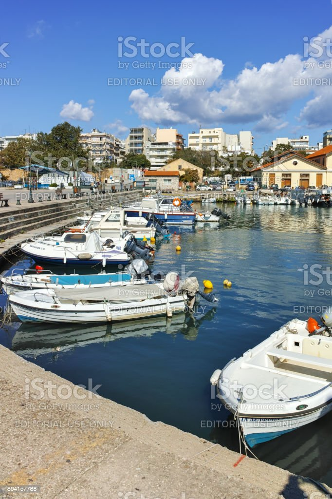 Amazing view of Port and town of Alexandroupoli, East Macedonia and Thrace, Greece royalty-free stock photo