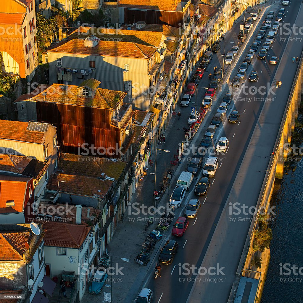 Amazing view of Porto old town, Portugal. stock photo