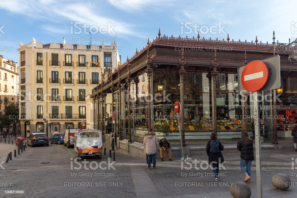 Amazing view of San Miguel Market in City of Madrid, Spain