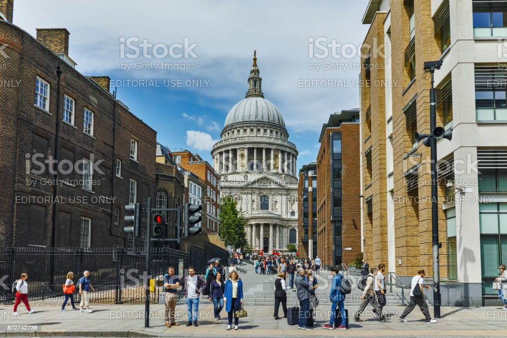 Amazing view of St. Paul Cathedral in London, Great Britain stock photo