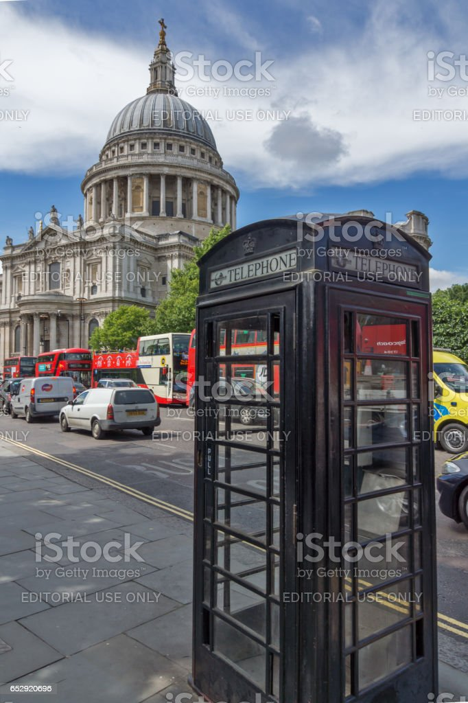 LONDON, ENGLAND - JUNE 15 2016: Amazing view of St. Paul Cathedral in London stock photo