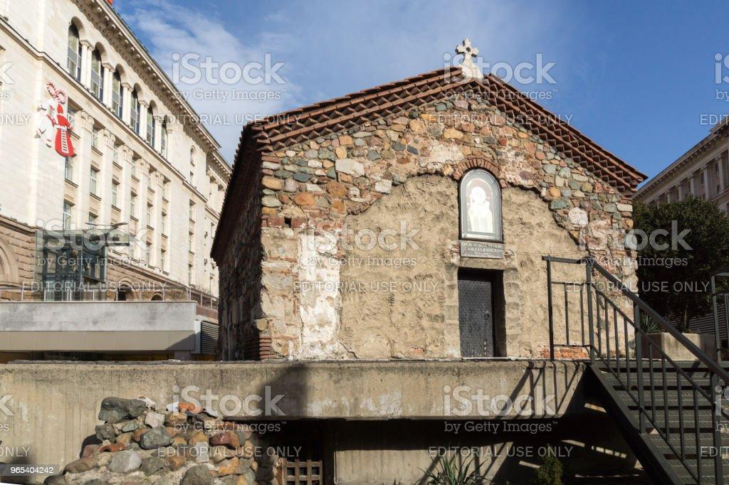 Vue imprenable sur l'église St. Petka à Sofia, Bulgarie - Photo de Architecture libre de droits