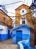 istock Amazing view of the street in the blue city of Chefchaouen. Location: Chefchaouen, Morocco, Africa. Artistic picture. Beauty world 1079766830