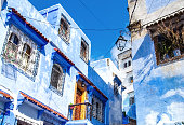istock Amazing view of the street in the blue city of Chefchaouen. Location: Chefchaouen, Morocco, Africa. Artistic picture. Beauty world 1283161850