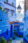 istock Amazing view of the street in the blue city of Chefchaouen. Location: Chefchaouen, Morocco, Africa. Artistic picture. Beauty world 1283162041